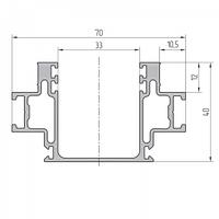 Основной профиль стойки алюминиевый экструдированный AYPC.111.0702