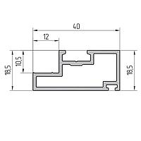 Профиль полустойки алюминиевый экструдированный AYPC.111.0703