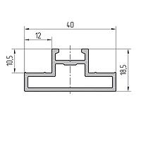 Профиль полуимпоста алюминиевый экструдированный AYPC.111.0704