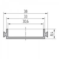 Профиль вспомогательный алюминиевый экструдированный AYPC.111.0705