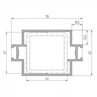 Профиль ригеля усиленный алюминиевый экструдированный AYPC.111.0707