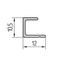 Профиль штапика для раздвижной двери алюминиевый экструдированный AYPC.111.0708