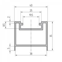 Профиль усиливающей стойки алюминиевый экструдированный AYPC.111.0709