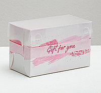 "Коробочка на 2 капкейка, ""Gift for you "" 10 х 16 х 10 см"