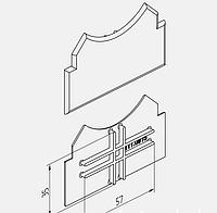 Заглушка торцевая для стойки AYPC.111.0911 Для поворотного профиля (двухсторонняя)