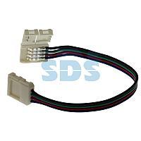 Коннектор соединительный (2 разъема) для RGB светодиодных лент шириной 10 мм,  длина 15 см LAMPER