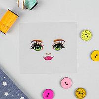 """Термонаклейка для декорирования текстильных изделий """"Кукла Надя"""", 6,5*6,3 см"""