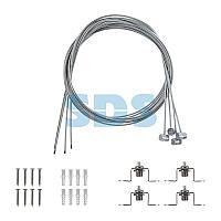Комплект подвесных крепежей для светодиодных панелей № 1 (Трос длиной 1 м - 4 шт. ; Винт самонарезающий 4х25 -