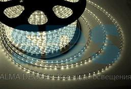 LED лента 220 В,  13х8 мм,  IP67, SMD 5050, 60 LED/m,  цвет свечения теплый белый