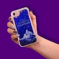 Чехол для телефона iPhone 7 с блёстками внутри «Сияние», 6.5 × 14 см