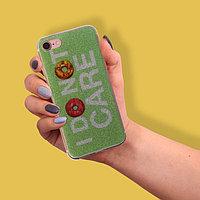 Чехол для телефона iPhone 6, 6S, 7 I don't care, 6.5 × 14 см