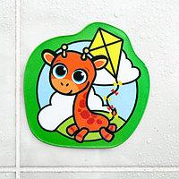Наклейка для игры в ванной «Жирафик»