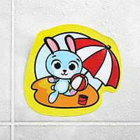 Наклейка для игры в ванной «Зайчик»