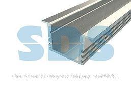 Профиль врезной алюминиевый 2212-2, 2 м REXANT