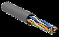 Кабель связи витая пара U/UTP, кат.5E 4х2х24AWG solid, PVC, 305м, серый упак