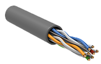 Витая пара U/UTP кат.6 4х2х23AWG solid PVC серый (305м) упак.