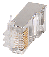 Разъём RJ-45 FTP для кабеля витая пара ШПД (Коннектор экранированный RJ-45)