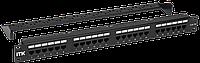 1U патч-панель кат. 5Е UTP 24 порта (Dual) с каб. орг-м