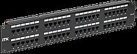 2U патч-панель кат.6 UTP, 48 портов (Dual), с каб. орг-м