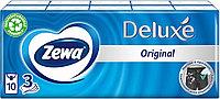 Платочки бумажные носовые Zewa Deluxe, 3 слоя, 10 шт. х 10