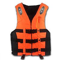 Спасательный жилет со свистком водонепроницаемый взрослый оранжево-черный