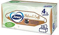 Салфетки бумажные косметические Zewa Natural Soft, 4 слоя, 80 шт.