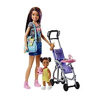 Кукла Barbie Няня с коляска