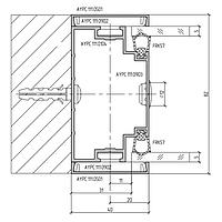 Комплект профиля стенового 111.0104 под двойное остекление