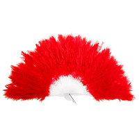 Веер пуховой. цвет красный 28 см