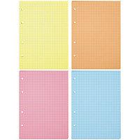 Сменный блок для тетрадей на кольцах А5, 200 листов клетка, 4 цвета