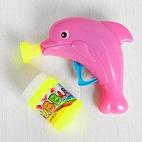 """Мыльные пузыри """"Дельфин на волне"""" с насадкой, 60 мл, цвета МИКС"""