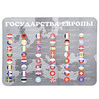 Накладка на стол для творчества, пластик,, 430 х 320 мм, «Флаги»