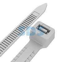 Хомут-стяжкa нейлоновая с тройным замком REXANT 400x7,6 мм,  белая,  упаковка 100 шт.