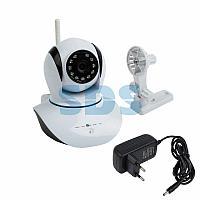 Беспроводная поворотная камера WiFi Smart 1.0Мп,  (720P),  объектив 3.6 мм. ,  ИК 10 м