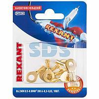 Наконечник кольцевой REXANT ø6.2 мм,  0.5-0.8мм²,  НК 6-0,5-0,8 / DJ431-6A,  в упак.  10 шт.