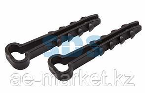 Дюбель-хомут нейлоновый прямоугольный PROconnect 5-10 мм,  черный,  упаковка 100 шт.