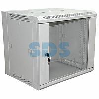 """19"""" Настенный шкаф RexantPRO 6U 600×600×370 мм (ШxГxВ) - передняя дверь стекло,  боковые стенки"""