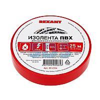 Изолента ПВХ REXANT 15 мм х 25 м,  красная,  упаковка 5 роликов