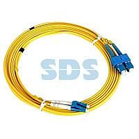 Патч-корд оптический (SM),  9/125 (OS2), LC/UPC-SC/UPC,  3 мм (Duplex), LSZH,  2 м