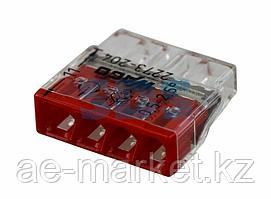 2273-204 Экcпресс-клемма,  4-проводная до 2,5 мм²,  (100 шт. /уп. ) WAGO