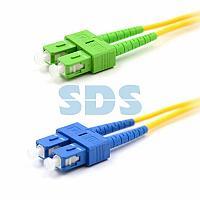 Патч-корд оптический переходной (SM),  9/125 (OS2), SC/APC-SC/UPC, (Duplex), PVC,  2м