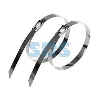 Хомут-стяжка стальная REXANT 300x7,9 мм,  упаковка 10 шт.