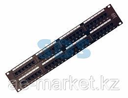 """Rexant Патч-панель 19"""",  2U,  48 портов RJ-45, категория 5e,  UTP неэкранированная,  черная"""