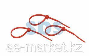Хомут-стяжкa нeйлонoвая REXANT 100x2,5 мм,  красная,  упаковка 25 шт.