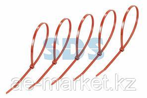 Хомут-стяжкa нeйлонoвая REXANT 300x4,8 мм,  красная,  упаковка 25 шт.