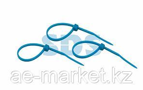Хомут-стяжкa нeйлонoвая REXANT 100x2,5 мм,  синяя,  упаковка 25 шт.