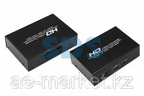Конвертер SCART на HDMI,  металл REXANT