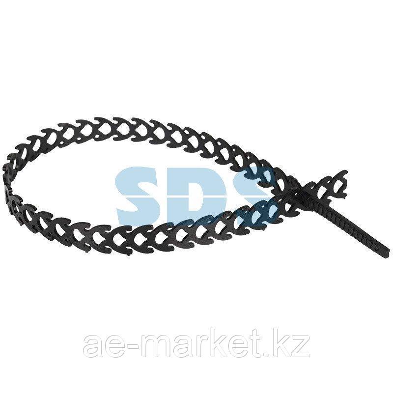 Хомут-стяжка полимерная многоразовая REXANT 300х10 мм,  черная,  упаковка 20 шт.