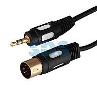 Шнур DIN 5 Pin - Stereo 3,5 мм,  длина 1,5 метра (GOLD) REXANT