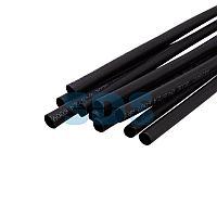 Термоусаживаемая трубка двухстенная клеевая 4,8/2,4 мм черная REXANT (уп. 10 шт.  по 1 м. )
